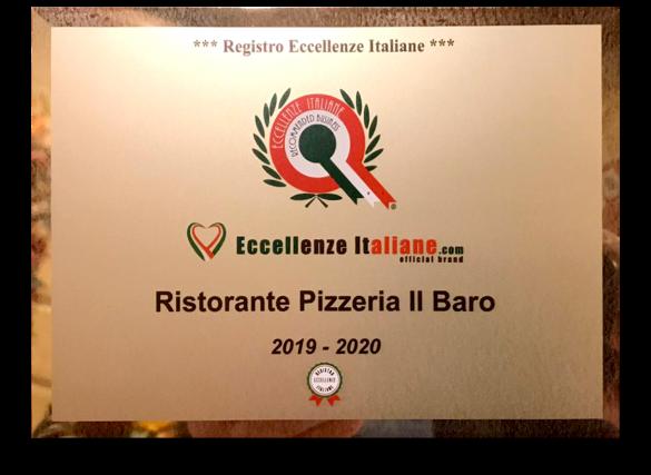 Eccellenze Italiane - Il Baro Pizzeria Ristorante